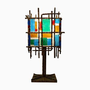 Brutalist Table Lamp in the Style of Poliarte