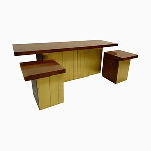 Credenza and Nightstands Set by Luciano Frigerio