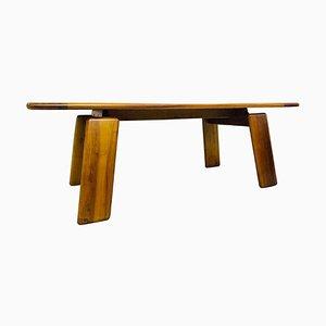 Esstisch aus Nussholz von Afra & Tobia Scarpa, Italien, 1980er