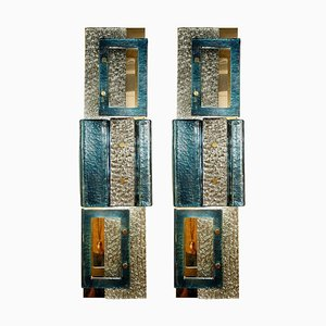 Glass Wall Sconces, Italy, Set of 2