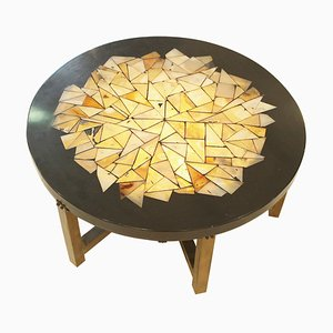Lighting Coffee Table in Resin by Ado Chale, Belgium