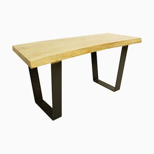 Wood Top Dining Table with Metal Legs