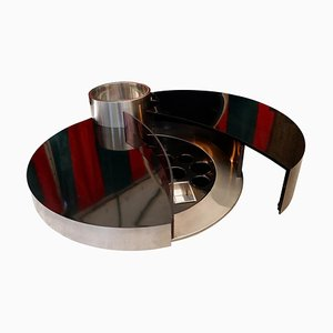 Tavolino da caffè rotante Massimo Papiri di Mario Sabot, Italia, anni '70