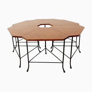 Small Formica Flower Tables Set