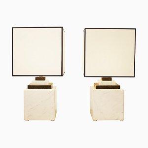 Lampade in marmo, anni '80, set di 2