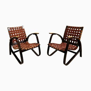 Bentwood Armchairs by Jan Vanek for Up Závody, 1930s, Set of 2