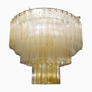Large Murano Glass Tubes Chandelier