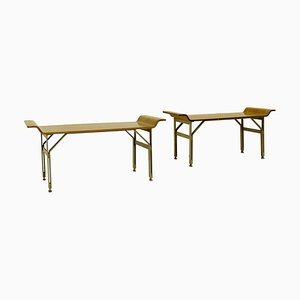 Italian Benches by Alberti Reggio Eugenia & Rinaldo Scaioli, 1960s, Set of 2