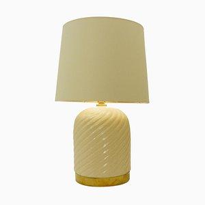 Lampe de Bureau en Céramique et Laiton par Tommaso Babi, Italie, 1960s
