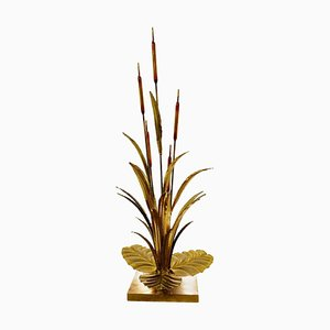 Brass Reed Lamp, 1970s
