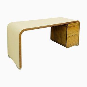 Weißer Schreibtisch aus Bergholz