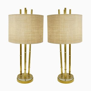 Faux Bamboo Table Lamps, Set of 2