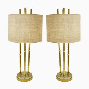 Lampes de Bureau en Faux Bambou, Set de 2