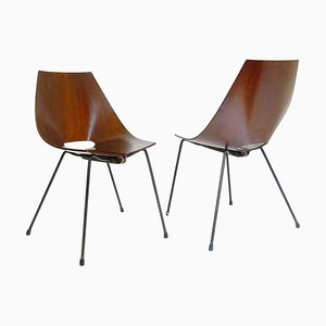 Italienische Stühle von Carlo Ratti, 1960er, 2er Set