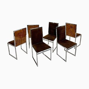 Chairs in the Style of Willy Rizzo, Set of 6