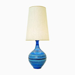 Rimini Blue Pottery Table Lamp by Aldo Londi for Bitossi, 1960s