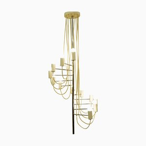 Mid-Century French Minimalist A16 Chandelier by Alain Richard for Disderot