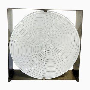 Lampada da tavolo LT217 a spirale di Carlo Nason per Mazzega, Italia, anni '60