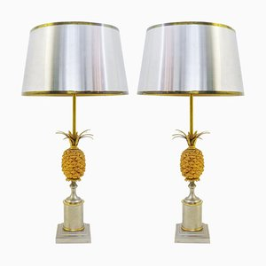 Lampes Ananas Style de Maison Jansen, Set de 2