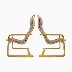 Swedese Lamello Easy Chairs by Yngve Ekström, Set of 2