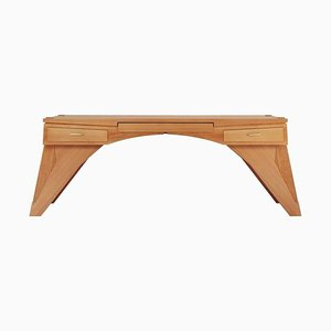 Late 20th Century Arch Bridge Constructivist Desk in Pearwood by Ed Weinberger