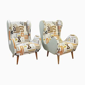 Italian Spring Collection Armchairs in Upholstery by Muberry Home, Set of 2