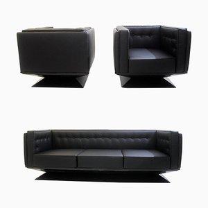 Lounge Set by Luigi Pellegrin for MIM Roma, Italy, 1950s, Set of 3