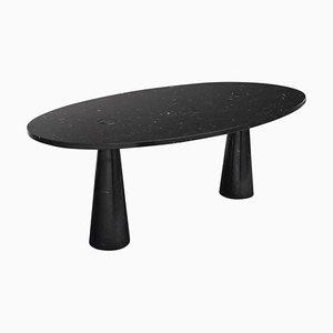 Tavolo da pranzo Eros Nero in marmo Marquinia di Angelo Mangiarotti