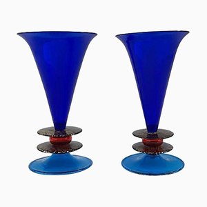 Vasi postmoderni di Formia, 1985, set di 2