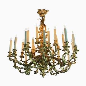 Kronleuchter im Louis XV Stil aus vergoldeter Bronze