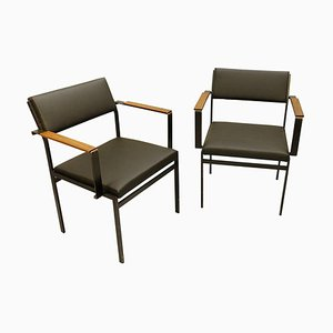Faux-Leather FM17 Japanese Series Chair by Cees Braakman for Pastoe, 1950s