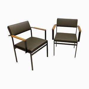FM17 Japanese Series Stuhl aus Kunstleder von Cees Braakman für Pastoe, 1950er