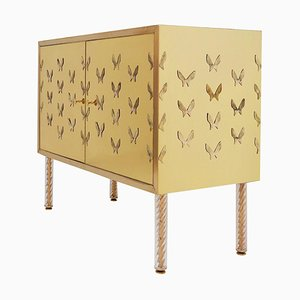 Brass Butterfly Cabinet
