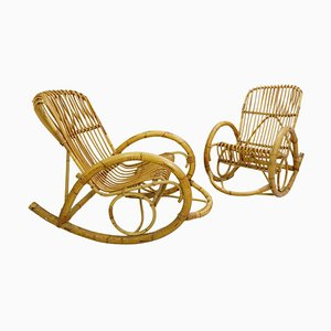 Rattan Rocking Chair from Rohe Noordwolde