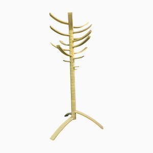 Sculptural White Lacquered Wood Coat Rack by Bruce Tippett Renna for Knoll International