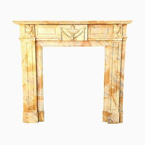 Siena Yellow Marble Fireplace