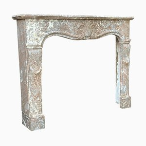 Louis XV Fireplace in Gray Ardennes Marble, 18th Century