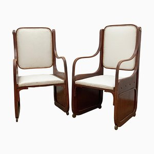 Bentwood Armchairs by Koloman Moser, Viennese Secession, 1900s, Set of 2