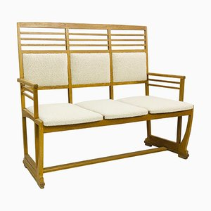 Upholstered Bench Attributed to Gustave Serrurier-Bovy