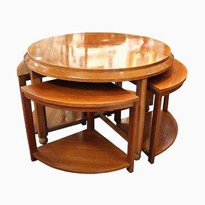Art Deco Coffee Table from De Coene, Belgium, Set of 5