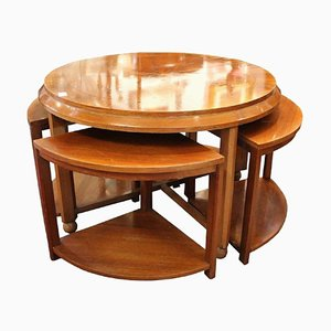 Tavolino da caffè Art Déco di De Coene, Belgio, set di 5