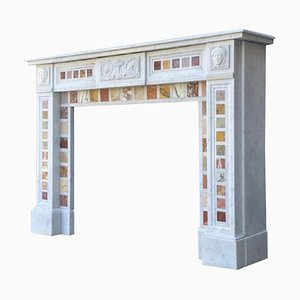 Carrara Marble and Statuary White Marble Fireplace, Napoleon III