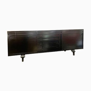 Black Lacquered Sideboard by Luigi Massoni, 1960s