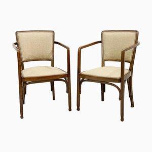 Armchairs by Gustav Siegel for J & J Kohn, Set of 2