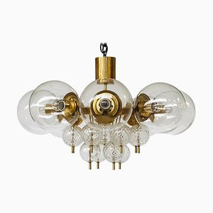 Czech Chandelier with 8 Glass Spheres