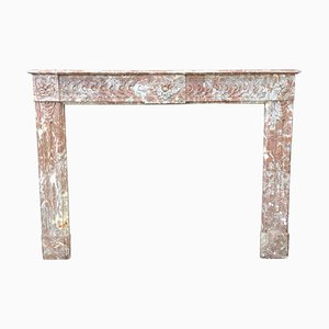 Louis XVI Style Fireplace in Red Marble
