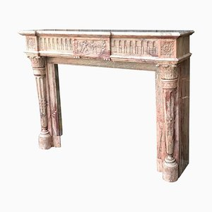 Louis XVI Style Fireplace in Campan Marble