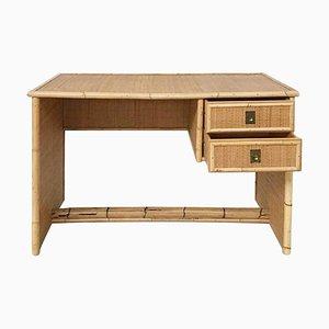 Del Vera Italian Bamboo and Wicker-Rattan Desk
