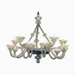 Venetian Art Deco Murano Glass Chandelier