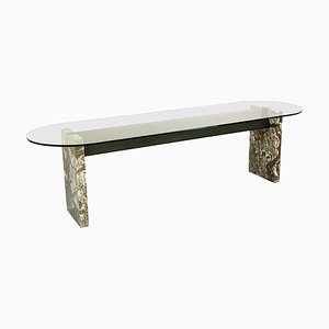 Marble Steel and Glass Top Dining Table by Lazzotti for Up&up